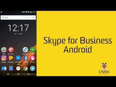 Installing and Using Skype for Business - Android