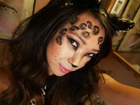 Leopard Halloween Costume Makeup Tutorial