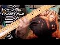 'Golden Brown' Stranglers Guitar Lesson