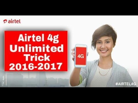 How to Get Free 4g Unlimited  Internet On Airtel sim card 100% Working Trick - Airtel Trick 2017