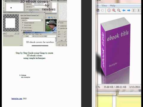 How to Create 3D ebook covers using gimp