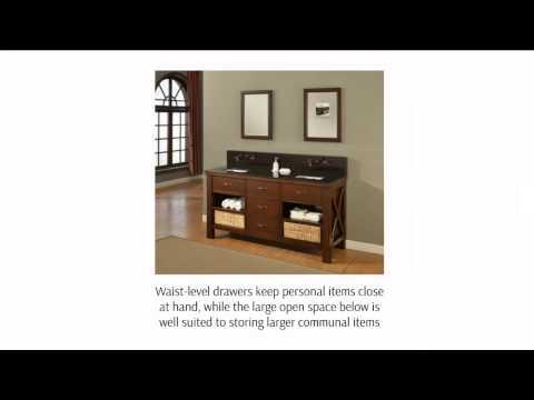 Introduction to open shelf bathroom vanities