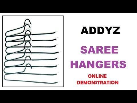 ADDYZ Set of 15 Pieces Saree Hangers listed on www.addyz.in