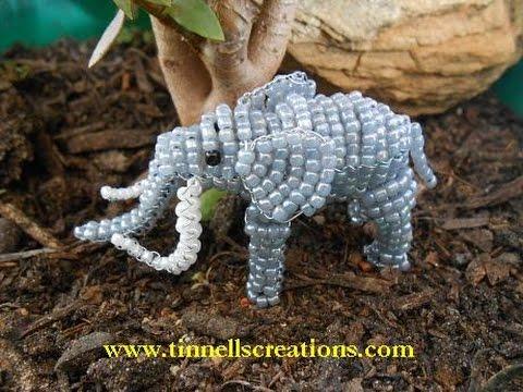 3D Beaded Elephant Tutorial  ( Preview )