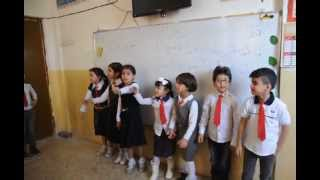 مشاركة تلاميذ الصف الثاني ( أ ) - درس انا احفظ القرآن –قاعدة حرف ( الجر )