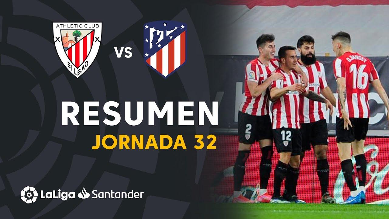 Resumen de Athletic Club vs Atlético de Madrid (2-1)