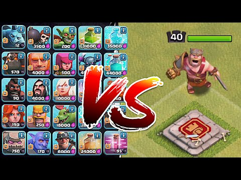 Clash Of Clans - 1 TROOP RAID Vs. HEROES!!! (Noahs Ark Attack)