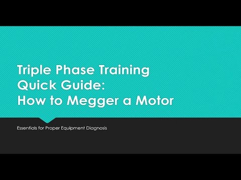 How to Megger a Motor / Insulation Test