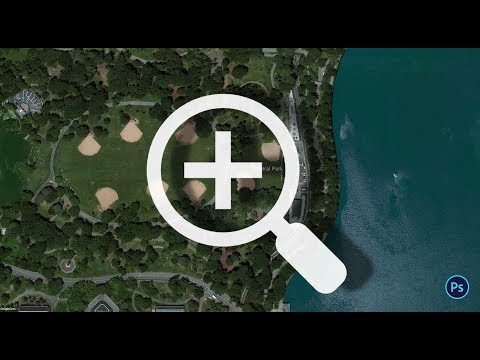 Easy Ultra High Resolution Google Earth image using Photoshop