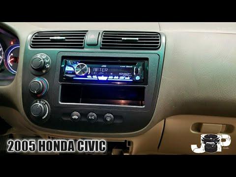 2005 Honda civic radio removal