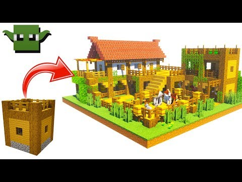Minecraft Medieval Stables Tutorial (EASY 5X5 BUILDING SYSTEM)