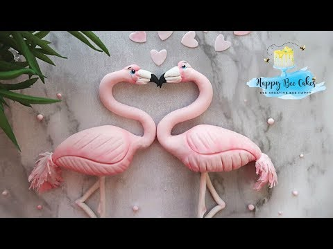 How to make a flamingo | Valetines day cake decorating 💓