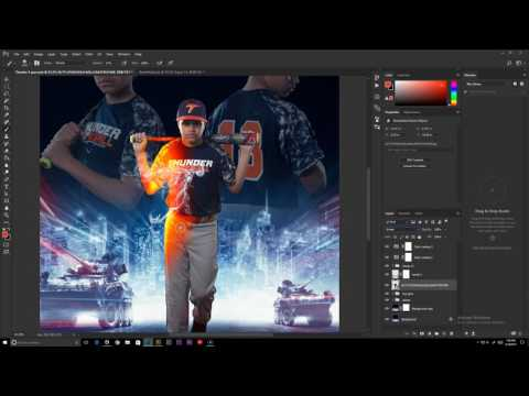 Baseball Photoshop Composite // Speed Retouch