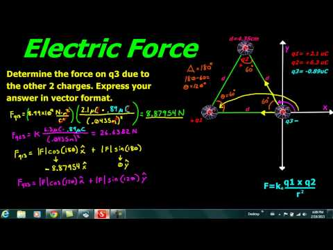 Electric Force with 3 point charges