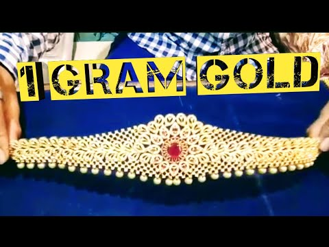 Gold jewellery earring necklace latest design in one gram gold wholesale price