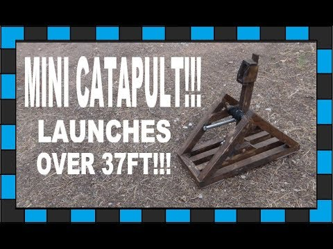 How To Build A Mini Catapult!!!