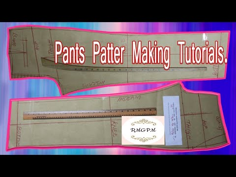 #How to Make Men's Dress Pant Pattern !! Trouser Pattern Making !! How to Pant Pattern Cutting