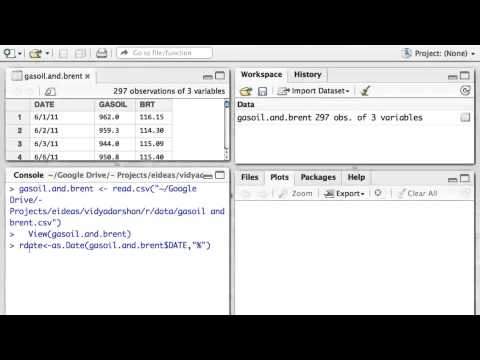 R Programming: Plotting time-series data (using data.frame)