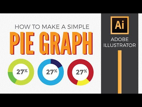 How to make a simple pie graph in Adobe Illustrator - Graphic Design How to