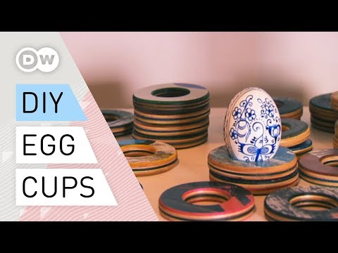 DIY upcycling - egg cups, clocks and tables by Lockengelöt