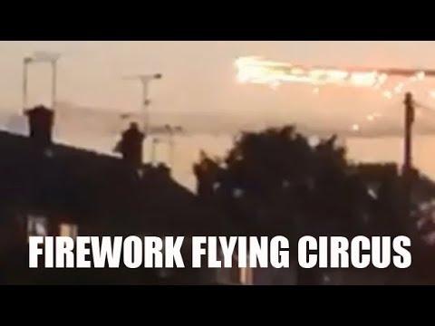 Stunning spectacular Flash Gordon's Firework Flying Circus