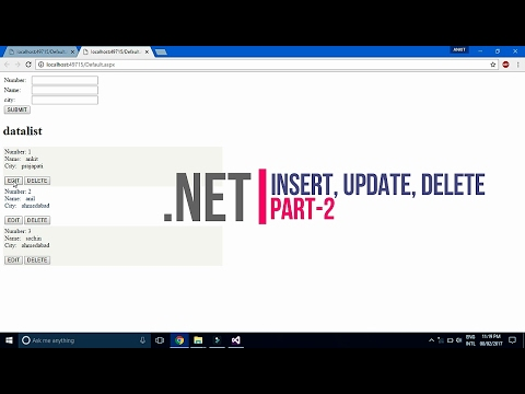 Insert, update, delete in datalist in | Asp.net | using c# - part- 2