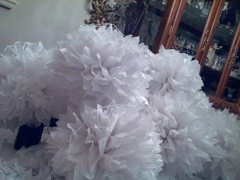 Tissue Paper Flower Ball Tutorial