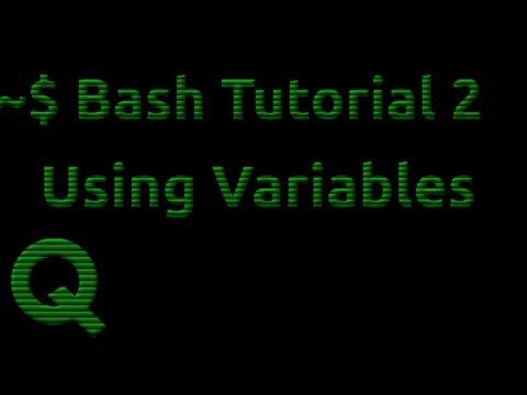 Bash Tutorial 2: Using Variables