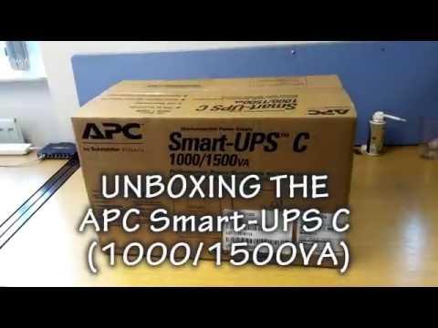 APC Smart-UPS C 1000/1500va uninterruptible power supply UNBOXING