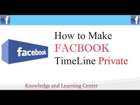 Facebook Tip - How to make Facebook Timeline Private 2017  (Really Easy)