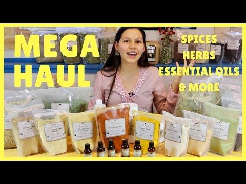 MEGA PANTRY HAUL | Ethnic Spices, Medicinal Herbs, Essential Oils & More!