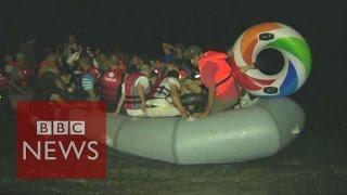 Greece: Tensions as migrants arrive on Kos - BBC News