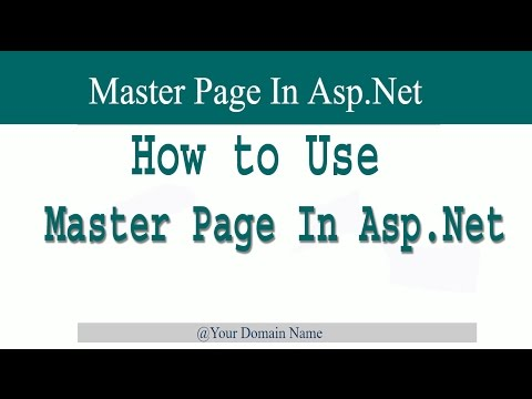 how to use master page in asp.net