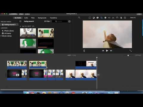 Basic Green Screen Effect Tutorial Using iMovie, Viddyoze and Canva