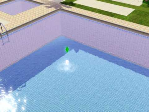 The Sims 3 - What happens when a ghost sim swims