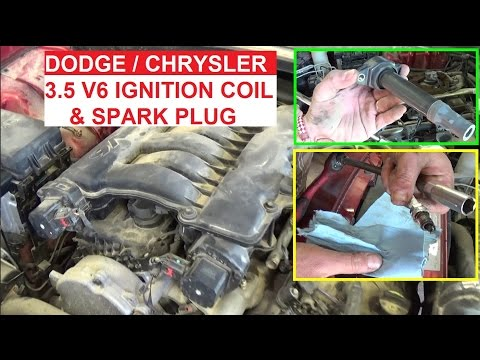 Ignition Coil and Spark Plug Replacement on Dodge Charger 3.5 Dodge Magnum 3.5 Chrysler 300 v6 3.5