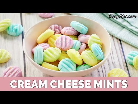 How to make Old-Fashioned Cream Cheese Mints (2018)