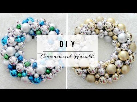DIY EASY Ornament Wreath [HD]- Dollar Store DIY!