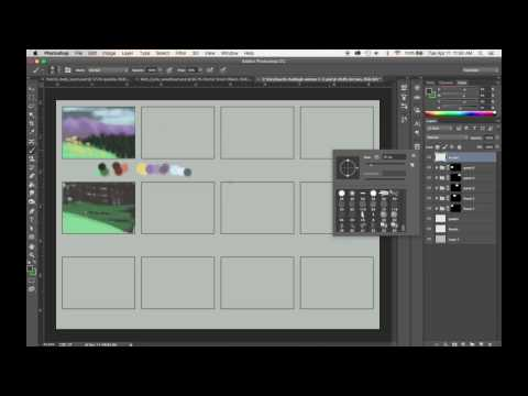 Color scripts/storyboarding tutorial with photoshop
