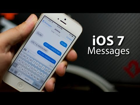 iOS 7 - Messages On iPhone 5