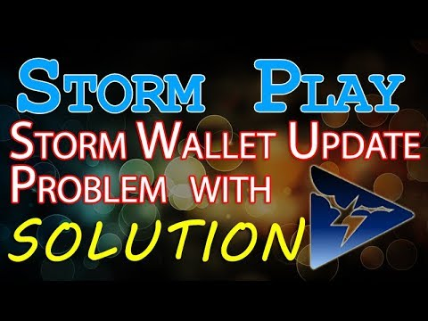 Strom Play - Strom Wallet update Problem - Solution