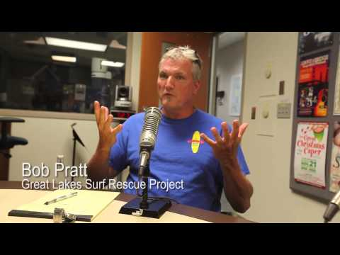 Bob Pratt of the Great Lakes Surf Rescue Project