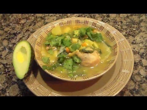 Vegetables Soup w/Chicken - Sopa de Vegetales con Pollo/Part 1