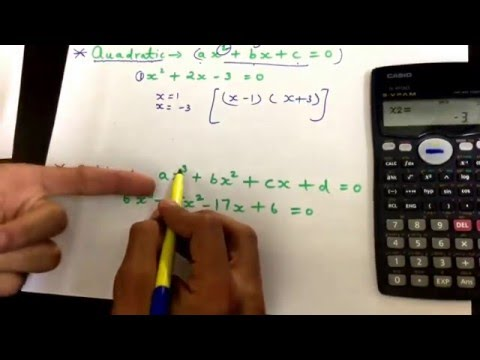 Quadratic & Cubic equation on calculator ( Casio Fx991MS)