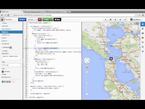 Custom Interactive Maps with the Google Maps API 08 Marker Events