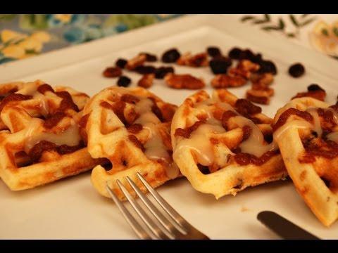 How to Make Cinn-a-Bun Pecan Raisin Waffles
