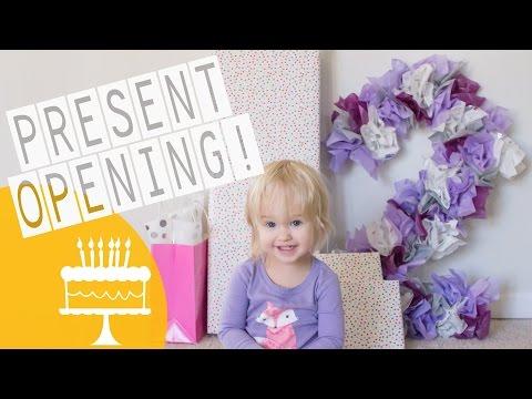 BIRTHDAY MORNING PRESENT OPENING!