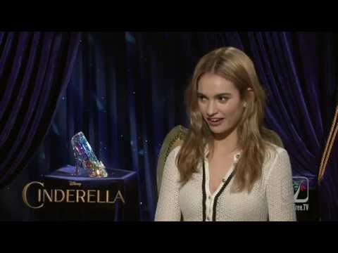 CINDERELLA Lily James talks about not fitting the glass slipper