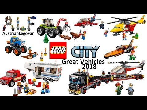 All Lego City Great Vehicles 2018 - Lego Speed Build Review