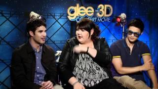Celebs.com Original Video Interview: Glee's Darren Criss, Ashley Fink & Harry Shum Jr